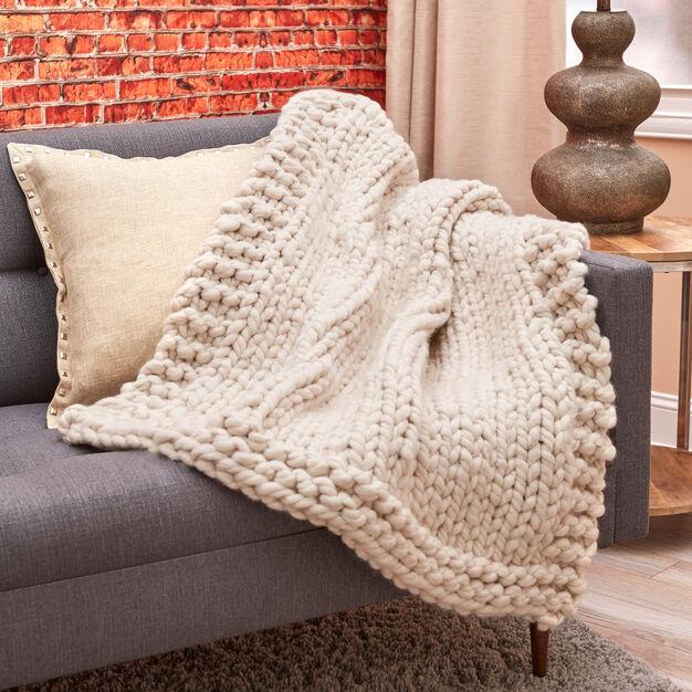 Red Heart Wonderful Big Stitch Throw - free knit pattern!