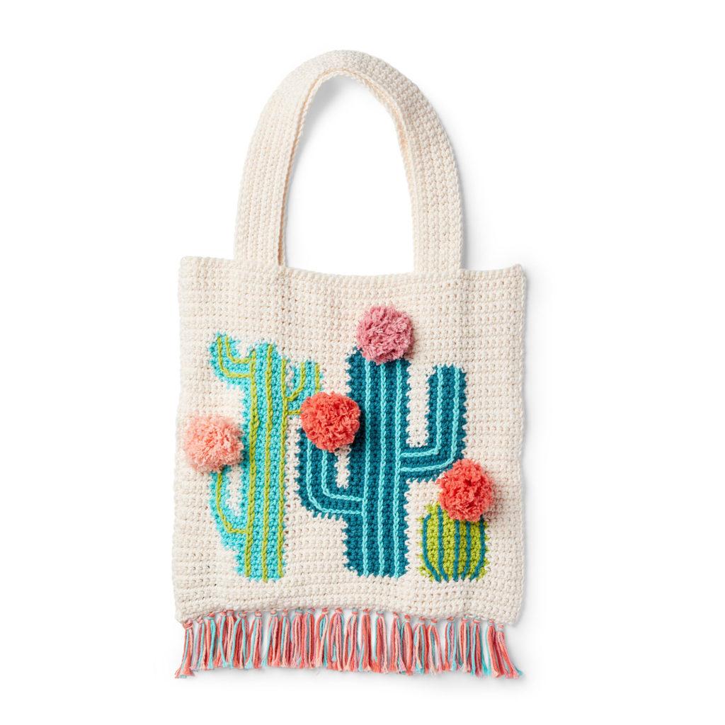 Lily Sugar'n Cream Crochet Cactus Tote - free crochet pattern!
