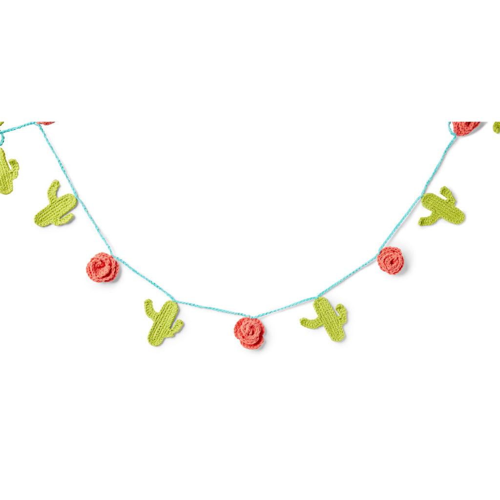 Lily Sugar'n Cream Crochet Cactus Garland -