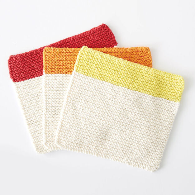 Lily Sugar'n Cream Dippity Doo Dah Knit Dishcloth - free knit pattern, perfect for beginners!