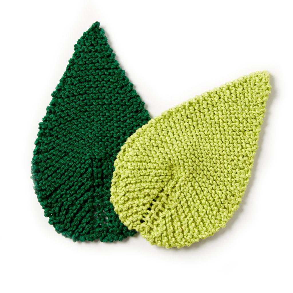 Lily Sugar'n Cream Be-Leaf It Knit Mug Rug- free pattern