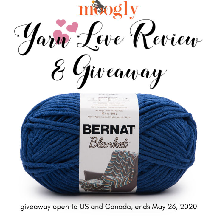 Bernat Blanket Yarn Love Review and Giveaway on Moogly!