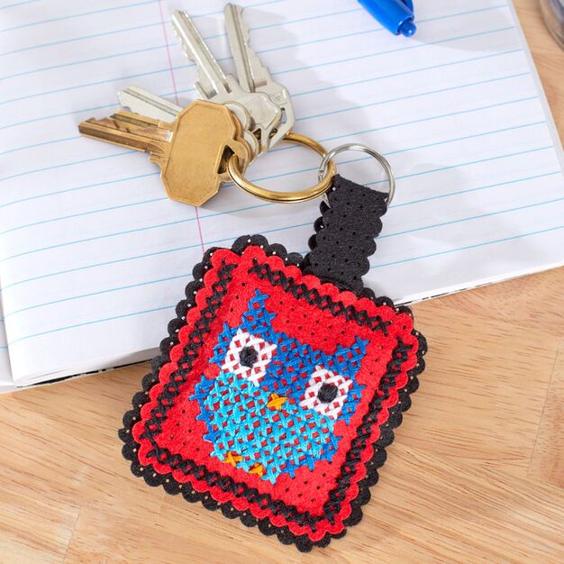 Anchor Owl Key Fob - free pattern and tutorial, fun for kids and adults!