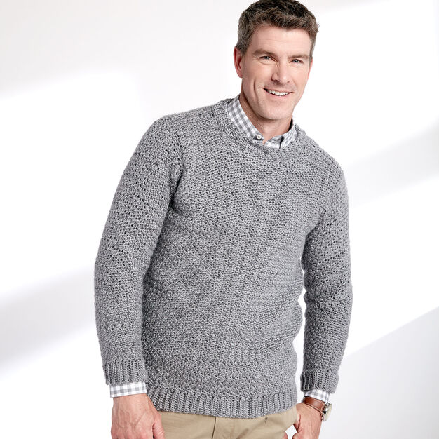 Crochet Crew Neck Pullover - free pattern!