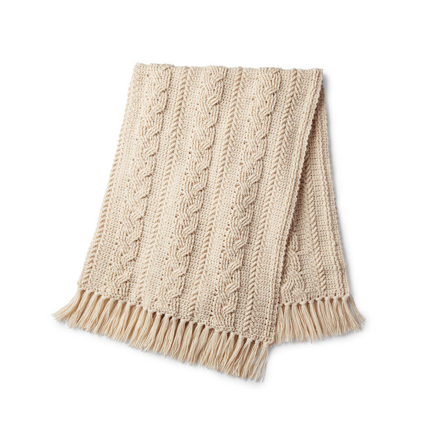 Caron Braided Cable Crochet Blanket - free pattern!