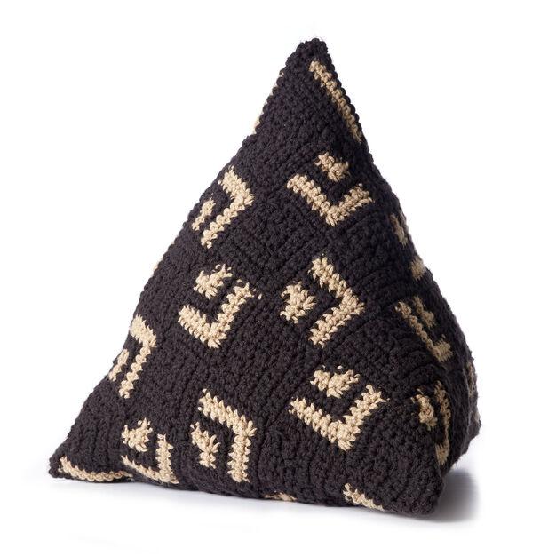 Caron Crochet Mosaic Pillow - free pattern!