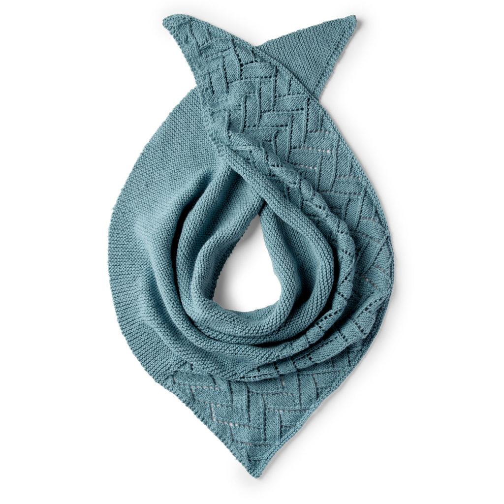 Caron Asymmetrical Lace Knit Shawl - free pattern!