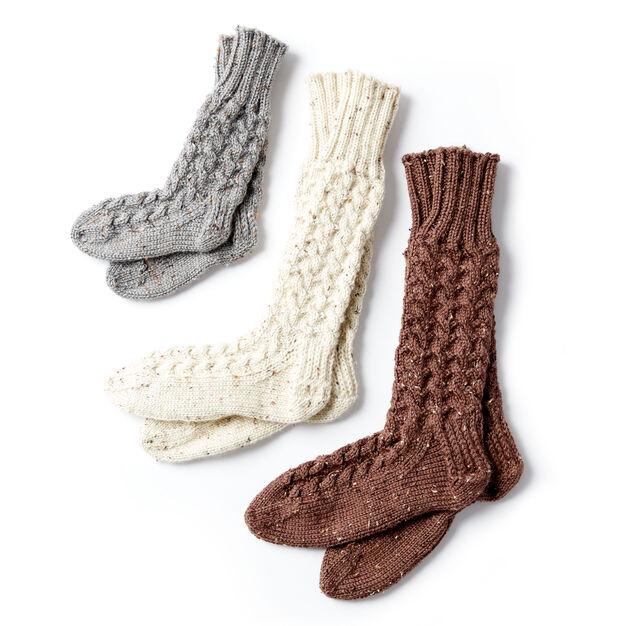 Caron Cozy Knit Cabin Socks - free pattern!