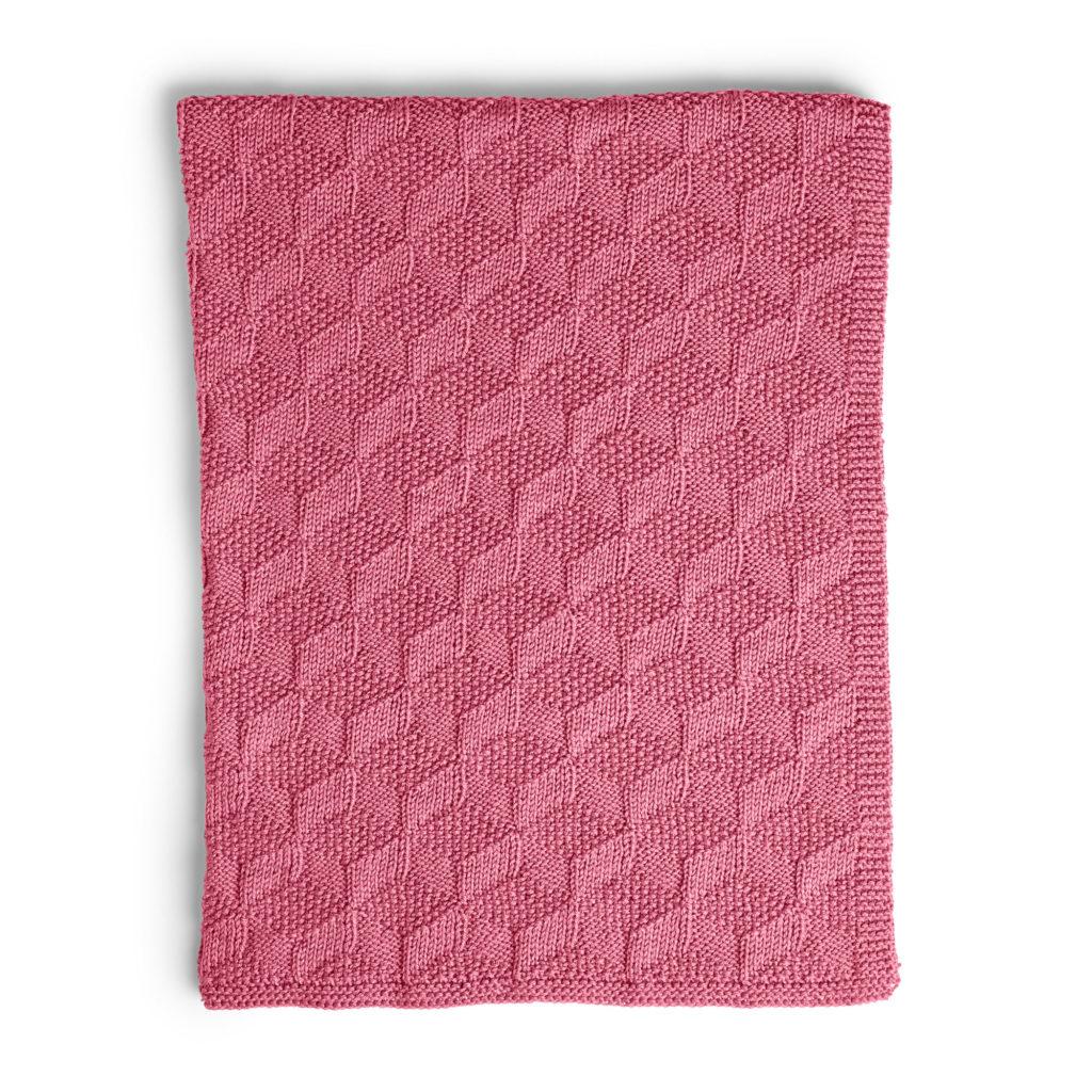 Caron Stack Up Blocks Knit Blanket - free pattern!