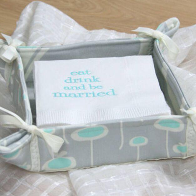 Dual Duty Pretty Handy Baskets - free sewing pattern!