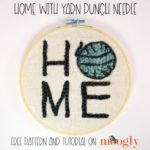 Home with Yarn Punch Needle Pattern