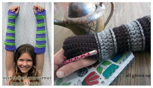 Moogly Arm Warmers - free crochet patterns for kids and adults!