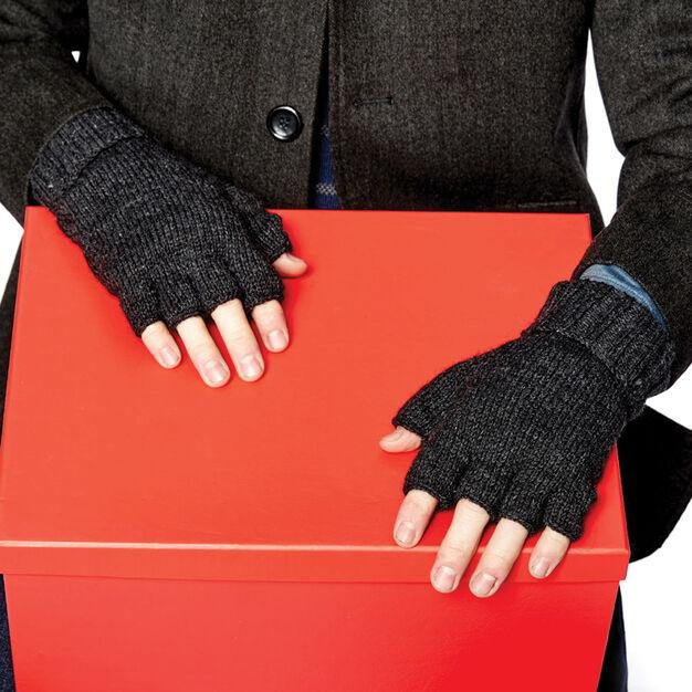 Fingerless Knit Gloves - free pattern for men!