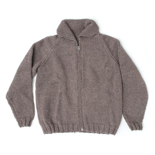 Dad's Zip Front Jacket - free knit pattern!