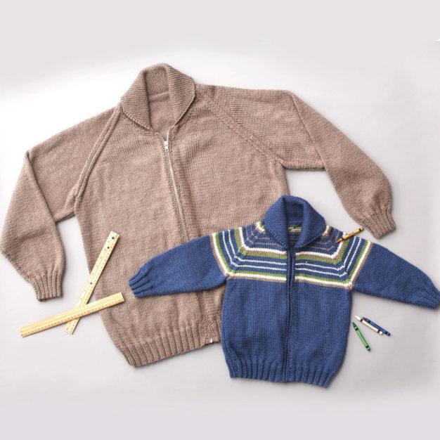 Patons Raglan Sleeve Jacket - free knit pattern