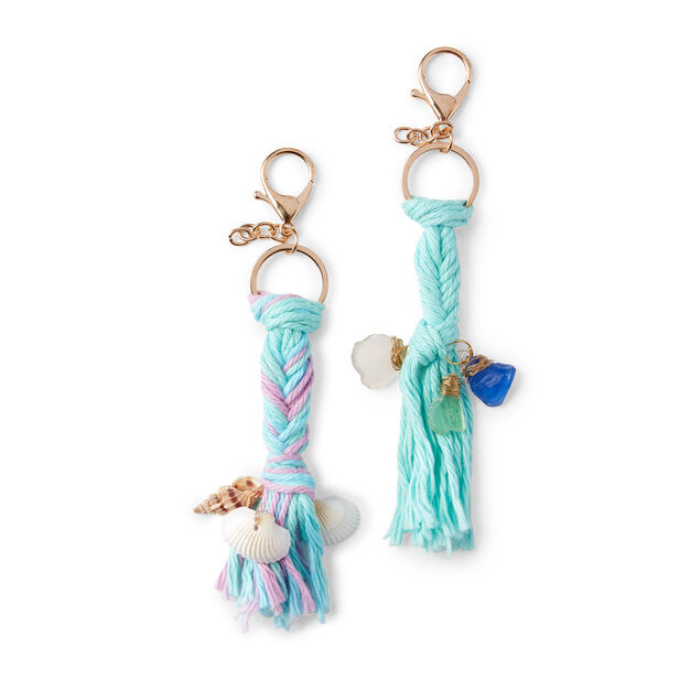 Red Heart Mermaid Tails Keychains - free craft tutorial!