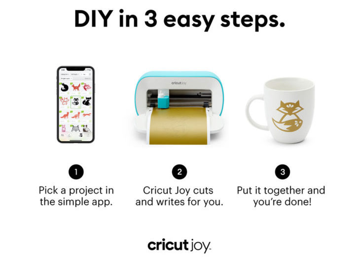 Creating is quick and easy with the Cricut Joy