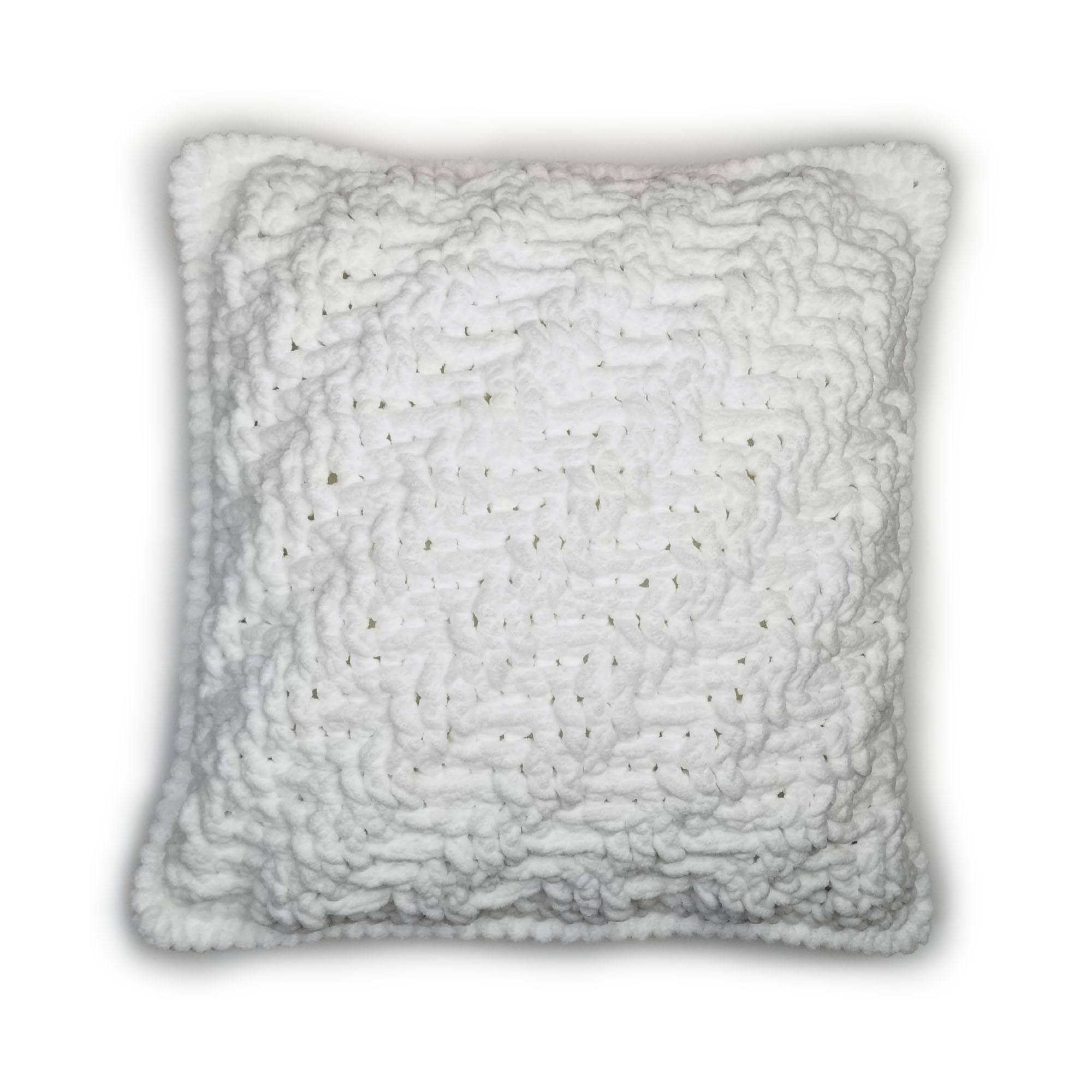 Diagonal Stripes And Texture Crochet Pillow Moogly