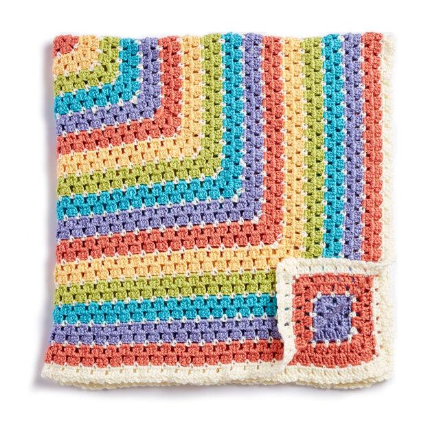 Caron Baby Blanket Squared - free crochet pattern!