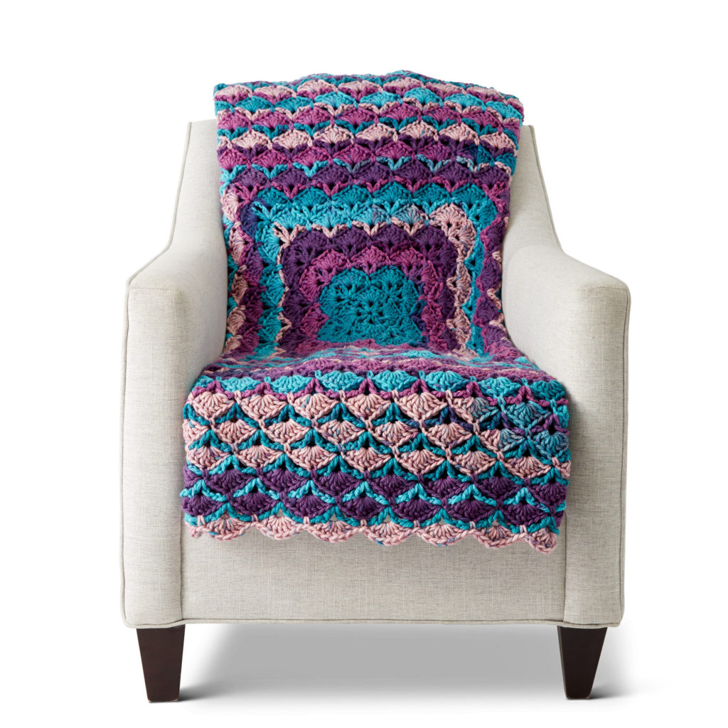 Caron From The Middle Crochet Blanket - free pattern!