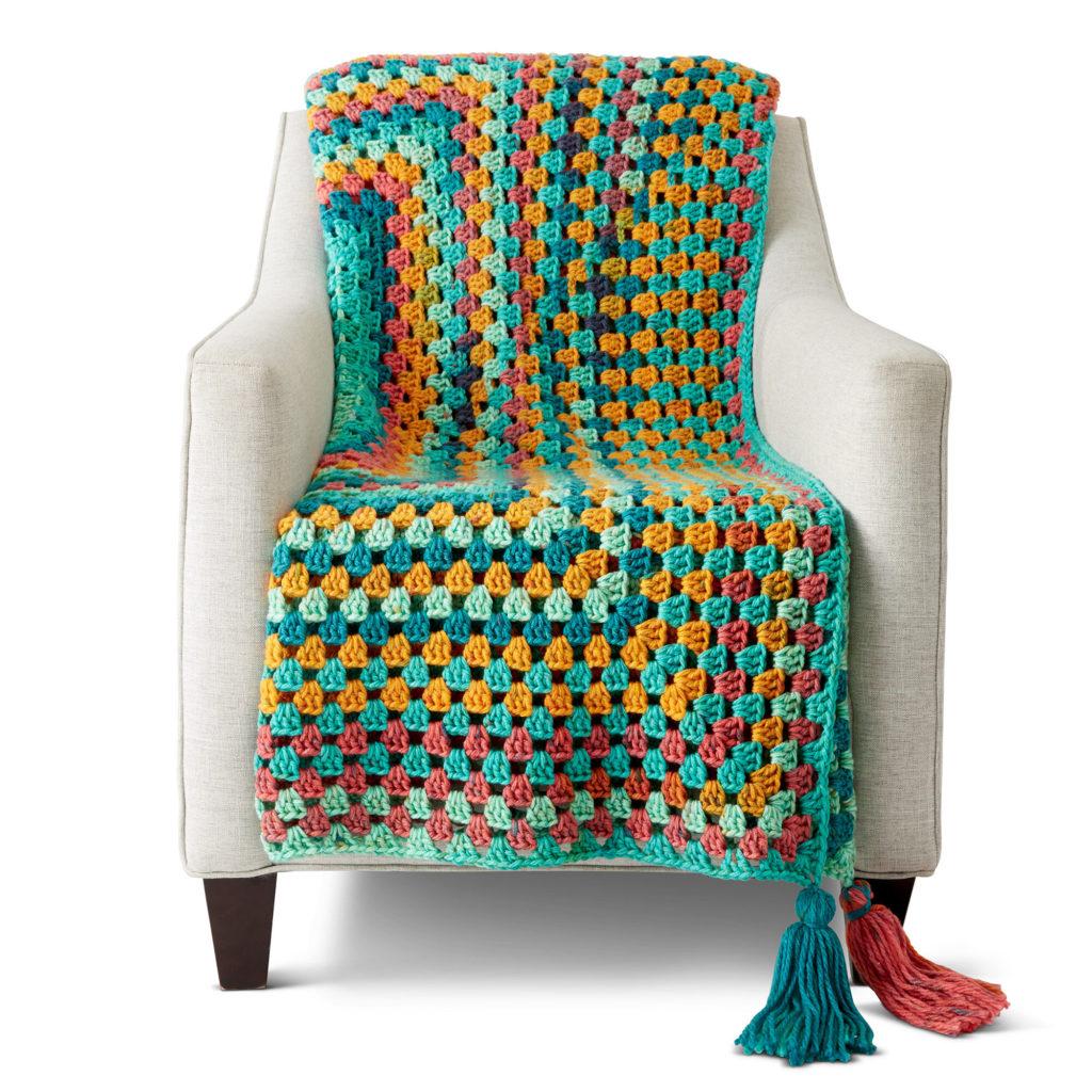 Caron Granny Rectangle Crochet Afghan