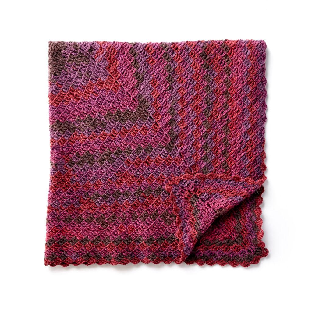 Caron Stacking Blocks Crochet Blanket - free pattern!