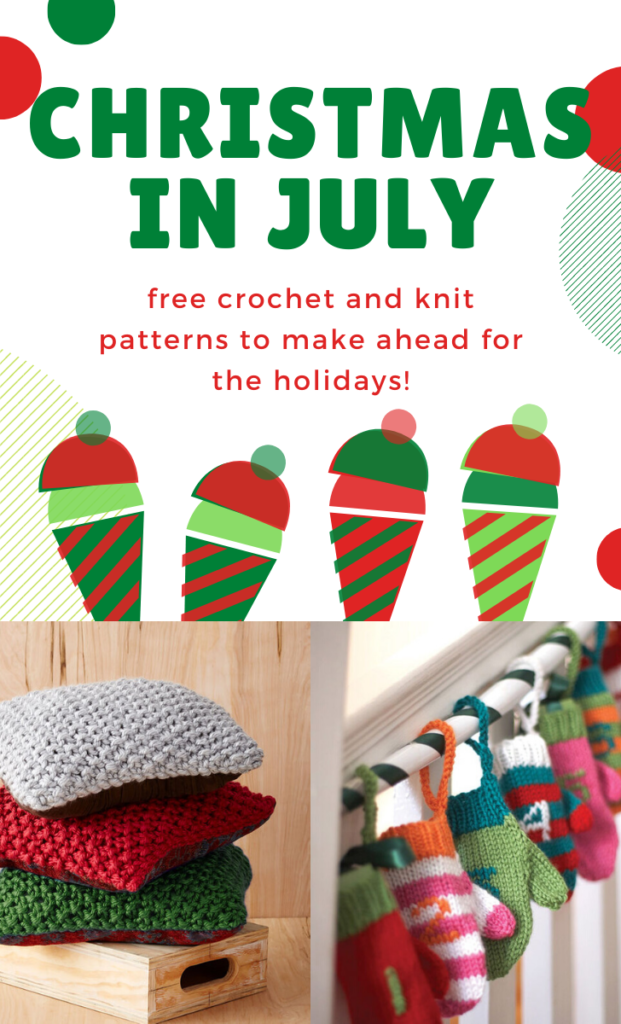 Christmas in July - free patterns on Moogly!