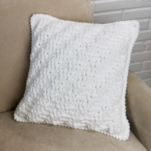 Diagonal Stripes and Texture Crochet Pillow - free pattern by Tamara Kelly of Moogly for Yarnspirations