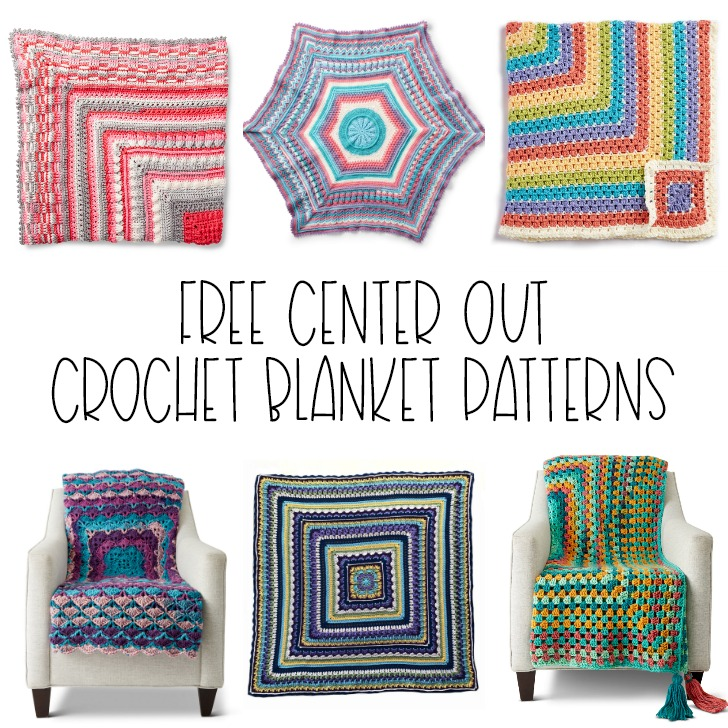 10+ Free Center Out Crochet Blanket Patterns - Moogly
