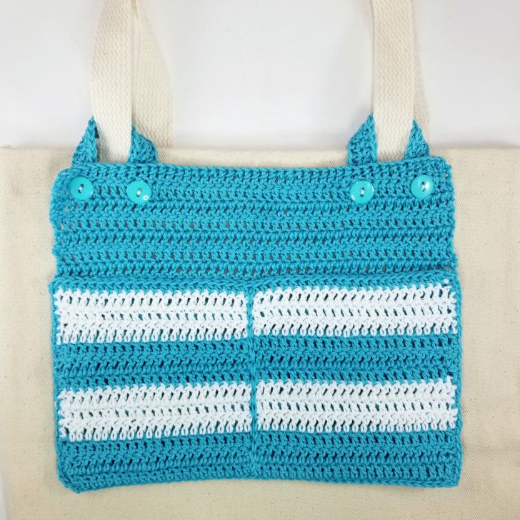 Multi Pocket Crochet Tote Organizer
