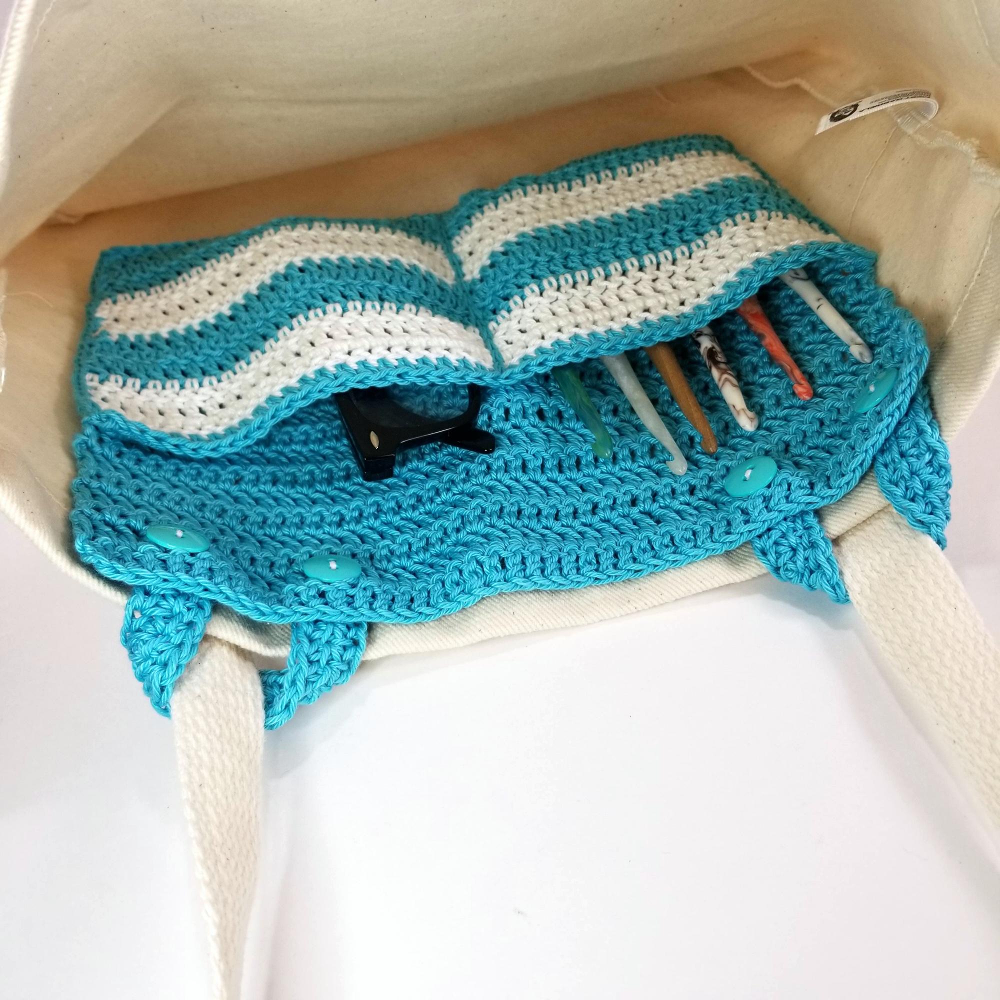 Multi Pocket Crochet Tote Organizer