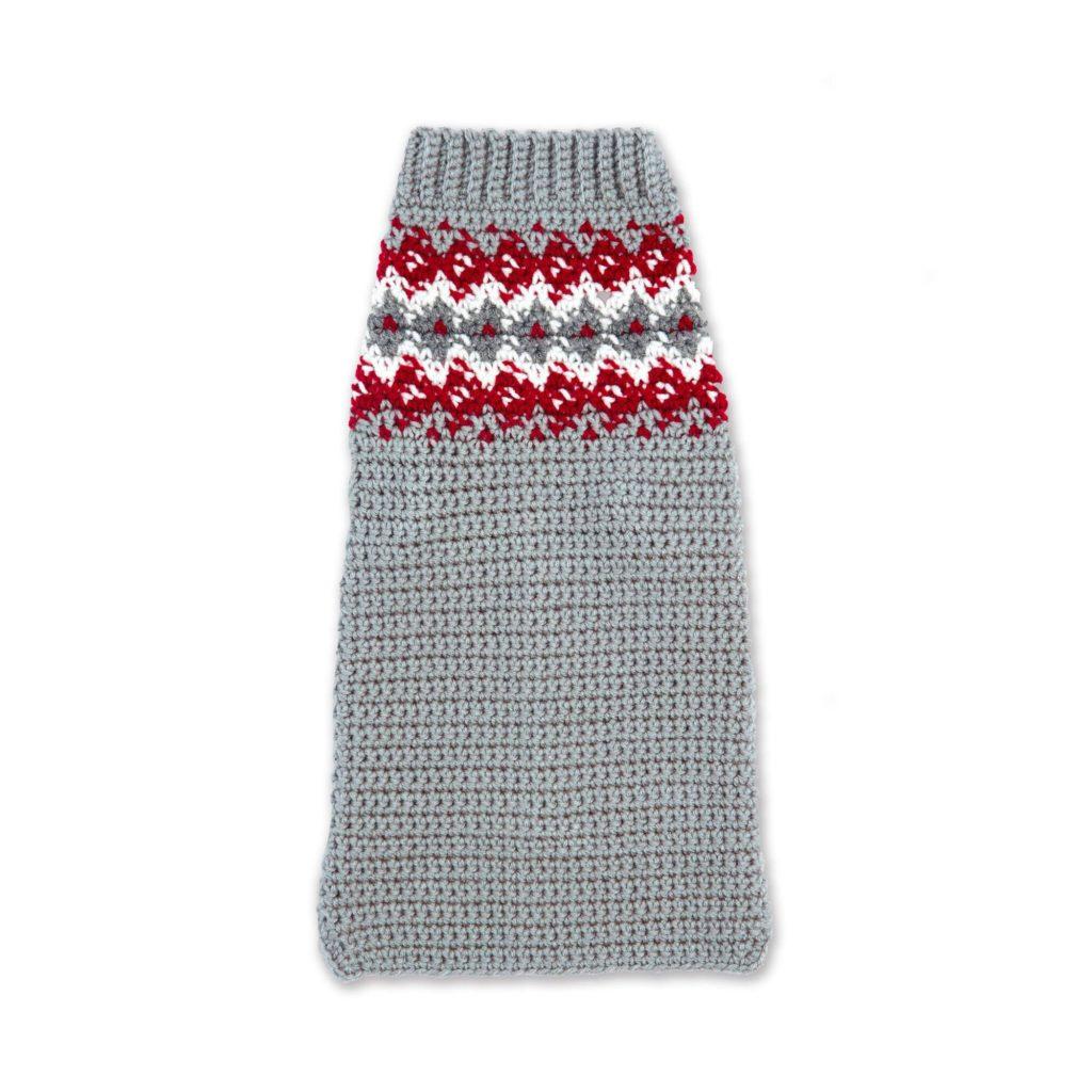 Red Heart Crochet Family Dog Sweater - free pattern