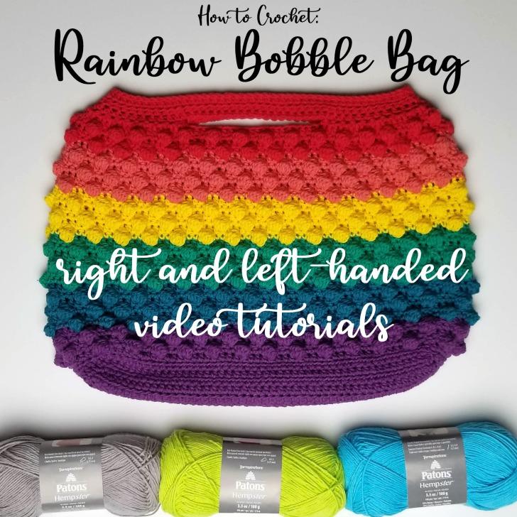 Rainbow Bobble Bag Tutorial on Moogly