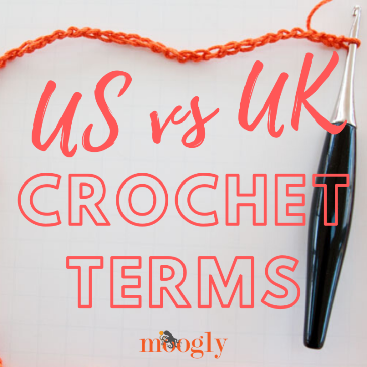 US vs UK Crochet Terms - get the printable and pinnable chart on Moogly!