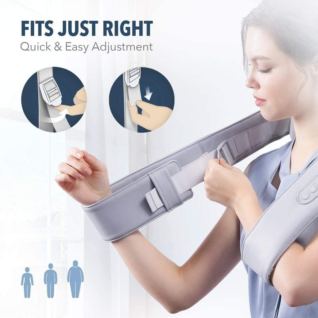 Adjustable straps on the oCuddle Shoulder Massager