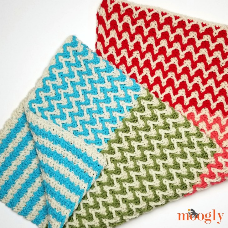 Bright Chevron Borderless Blanket - folded