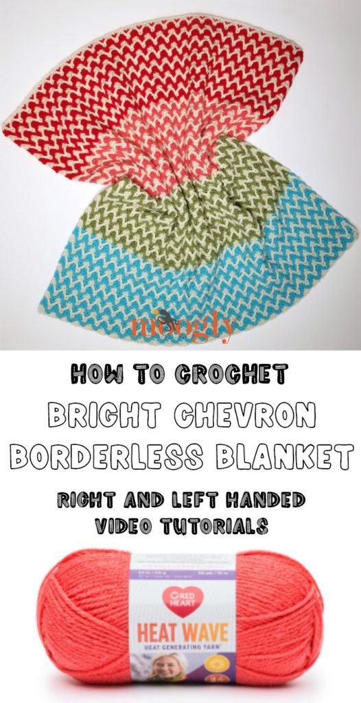 Bright Chevron Borderless Blanket Tutorial - Moogly
