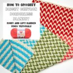 Bright Chevron Borderless Blanket Tutorial