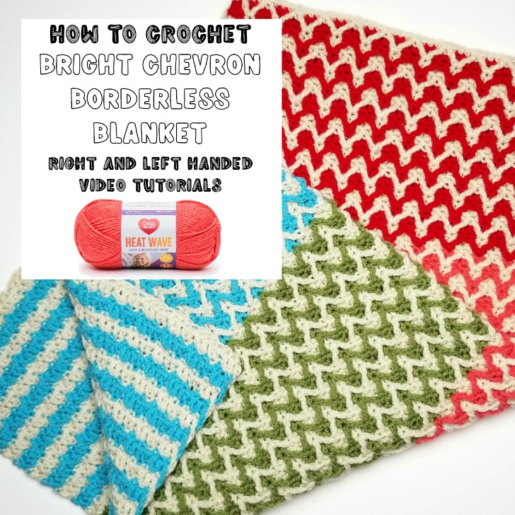 Bright Chevron Borderless Blanket Tutorial - Moogly