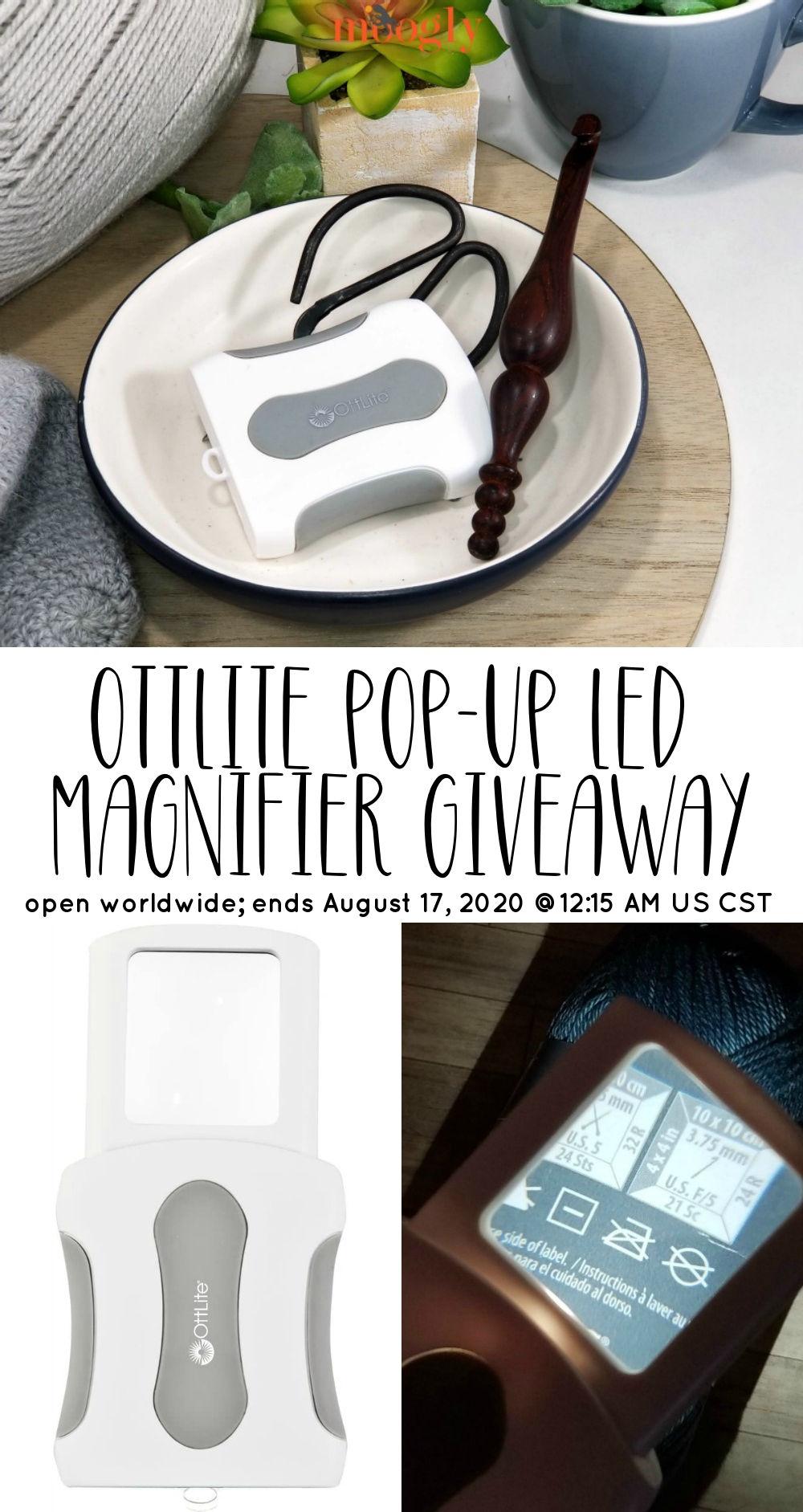 OttLite Pop-Up LED Magnifier Giveaway on Moogly