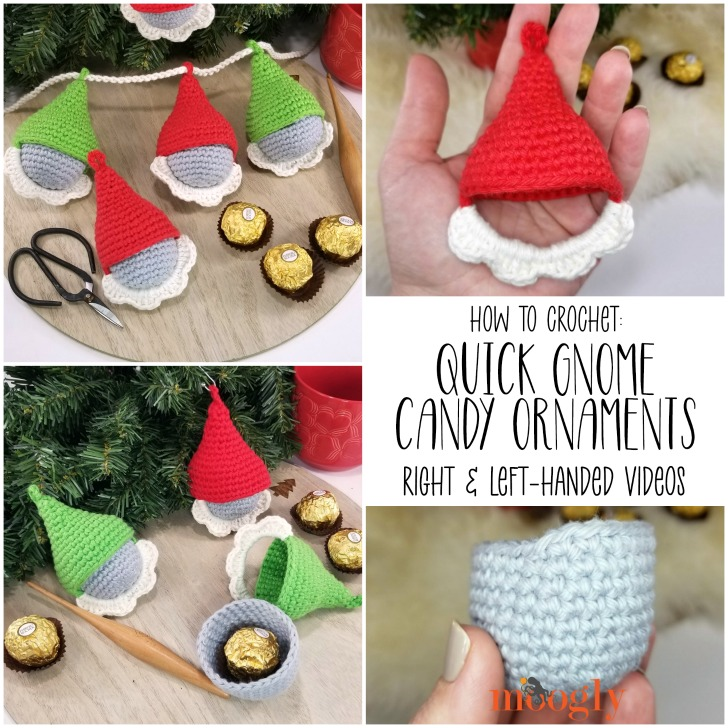 Quick Gnome Candy Ornaments Tutorial on Moogly