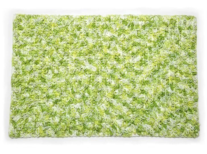 Lily Loop Stitch Lawn Rug - free pattern by Tamara Kelly for Yarnspirations