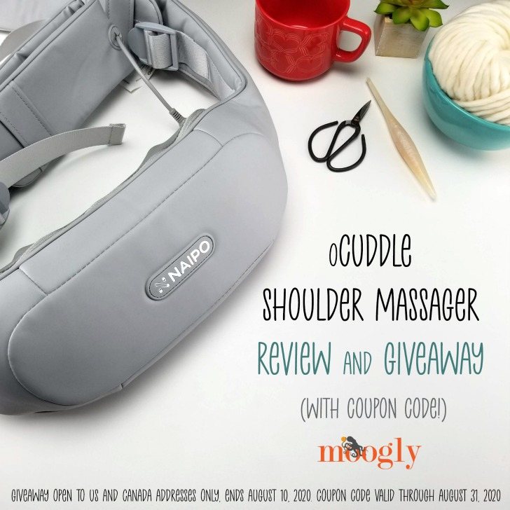 oCuddle Shoulder Massager Review and Giveaway on Moogly
