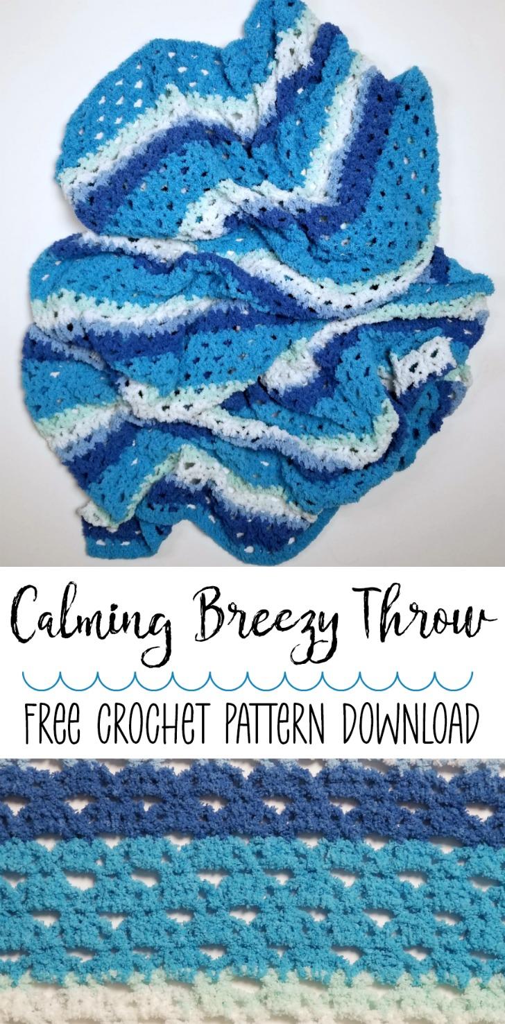 Bernat Calming Breezy Throw - Pin