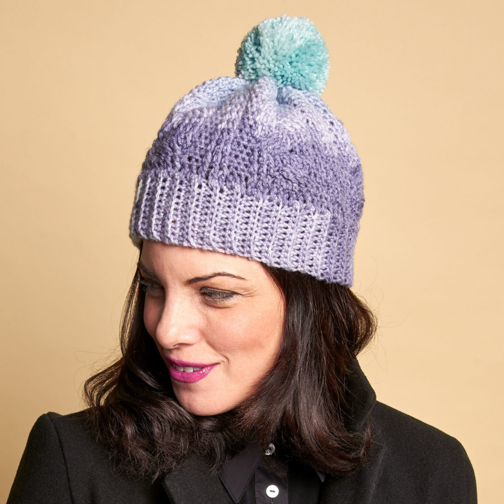 Learn to crochet this hat on Michaels, with Moogly!