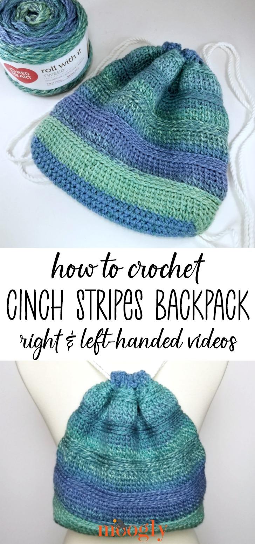 Cinch Stripes Backpack Tutorial - Moogly