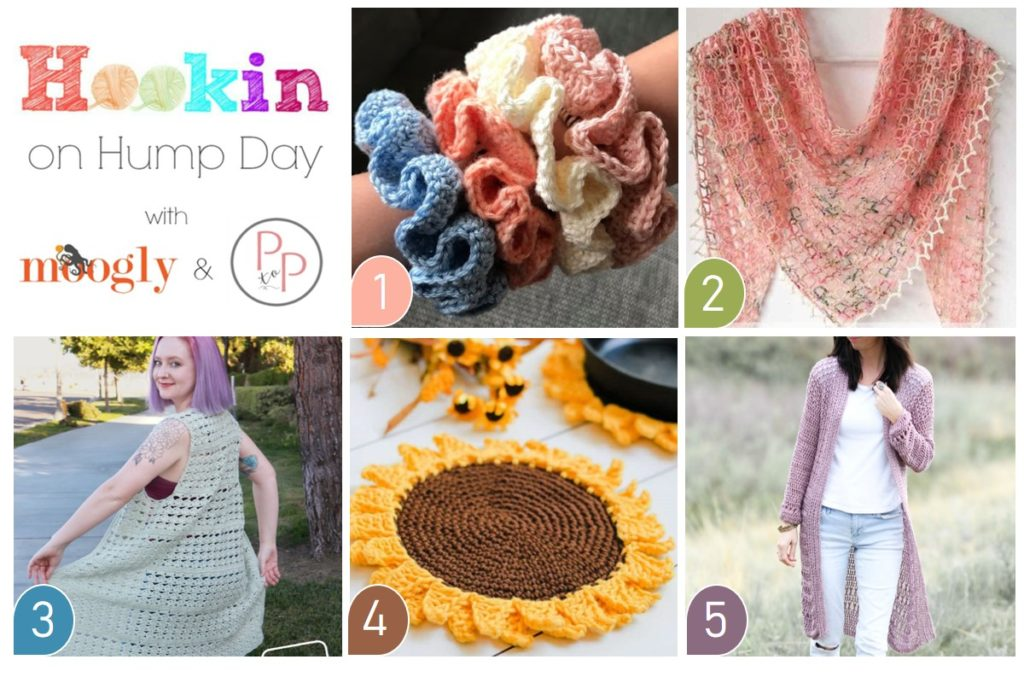 Hookin On Hump Day #220 - get all these pattern links on Moogly and Petals to Picots!