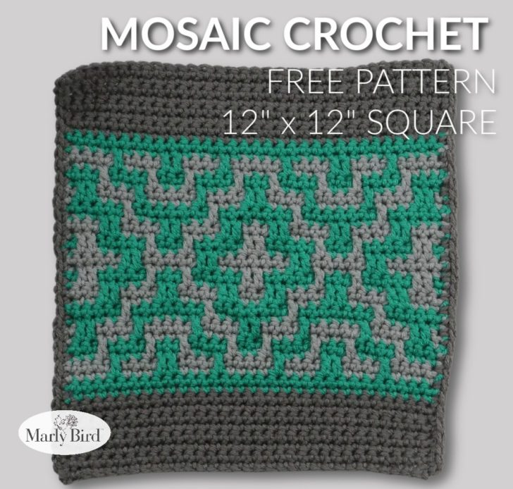 Marly Bird Mosaic Crochet Square