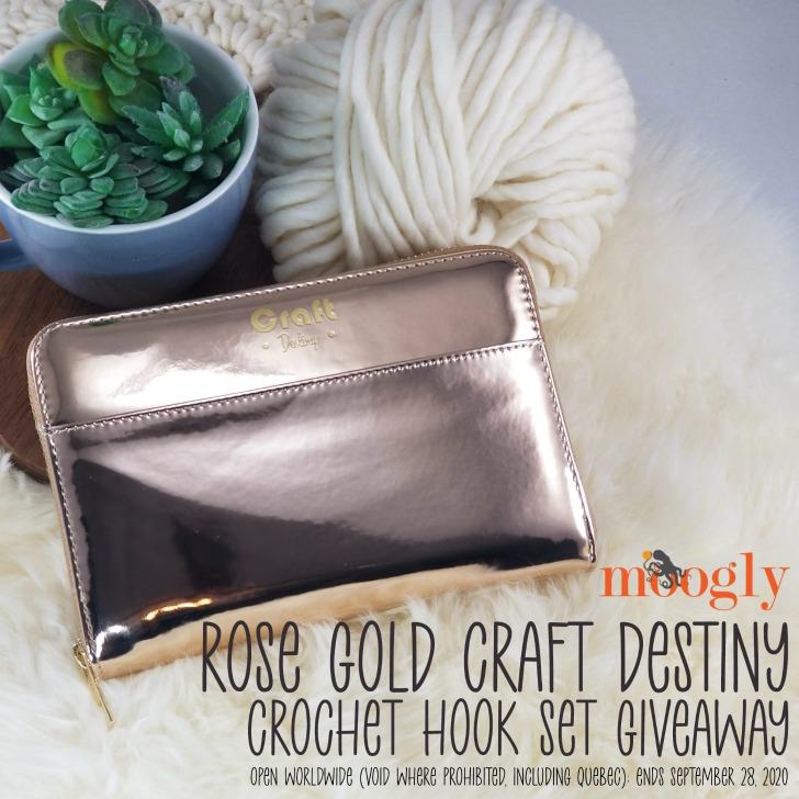 Rose Gold Craft Destiny Crochet Hook Set Giveaway on Moogly
