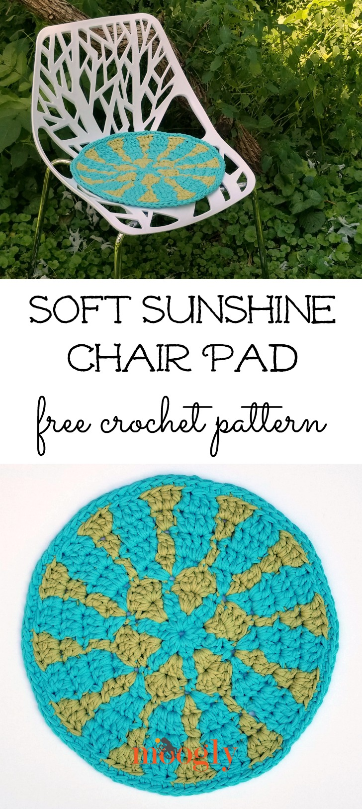 Soft Sunshine Chair Pad - get the free crochet pattern on Moogly